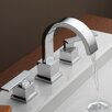 Delta Vero Double Handle Deck Mount Widespread Bathroom Faucet