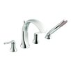 Moen Fina Two Handle Roman Tub Faucet Trim with Hand Shower