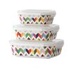French Bull Ziggy 3 Piece Porcelain Storage Container Set