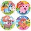 "French Bull Farm 8.1"" Melamine Kids Plate 4 Piece Set (Set of 4)"