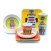 French Bull Robot Melamine Kids Bowls 4 Piece Set