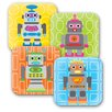 "French Bull Robot 8"" Melamine Kids Plate 4 Piece Set (Set of 4)"