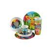 French Bull Jungle 13.2 oz. Melamine Kids Bowl 4 Piece Set