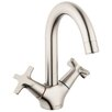 Hansgrohe Logis Classic Faucet Double Handle with Drain Assembly