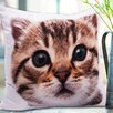 Jovi Home Kitty Digital Cotton Pillow Cover (Set of 2)