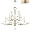 Fine Art Lamps Ice Sculpture 10 Light Candle Chandelier
