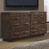 Cresent Furniture Hudson 6 Drawer Double Dresser