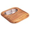 Franke Euro-Pro Cutting Board with Stainless Steel Colander in Teak