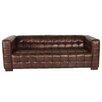 Lazzaro Leather Nautical Leather Sofa