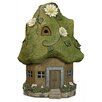 Exhart Solar Cottage Moss Roof Statue