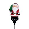 Exhart Solar LED Spinning Stake Santa Claus Christmas Decoration