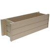 EcoFLEX Composite Planter Box - Size: 7.5 inch High x 24 inch Wide x 7.5 inch Deep - New Age Garden Planters