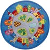 Haba Town Blue Area Rug