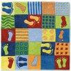 Haba Feet Blue/Green Area Rug