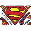 Room Mates Popular Characters Superman Logo Dry Erase Wall Decal