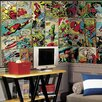 Room Mates Marvel Comic Panel Chair Rail Prepasted Wall Mural
