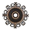 "Minka Aire Napoli 38"" Ceiling Medallion in Sterling Walnut"