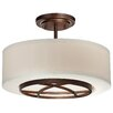 Minka Lavery City Club 3 Light Semi-Flush Mount