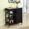 InRoom Designs Kitchen Cart with Faux Marble Top