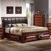 InRoom Designs Queen Upholstered Platform Bed