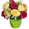 Select Artificials Rose Hydrangea Arrangement in Vase