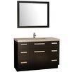 """Design Element Moscony 48"""" Single Bathroom Vanity Set with Mirror"""