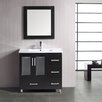 "Design Element Stanton 36"" Single Bathroom Vanity Set with Mirror"