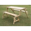 Outsunny Convertible Table and Picnic Bench