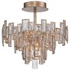 Metropolitan by Minka Bel Mondo 5 Light Semi-Flush Mount