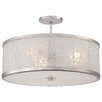 Metropolitan by Minka Lake Frost 3 Light Semi Flush Mount