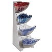 Paderno World Cuisine 4 Compartment Stainless Steel Condiment Tower Bins