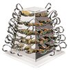Paderno World Cuisine Battery Operated Stainless Steel Rotating Serving Pyramid Buffet