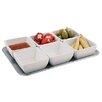 Paderno World Cuisine Divided Serving Dish and 6 Bowl Set