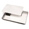 Paderno World Cuisine Rectangle Tart Pan with Removable Bottom (Set of 2)