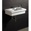 Bissonnet Area Boutique Logic 60 Porcelain Bathroom Sink with Overflow