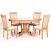 Heartlands Furniture Leicester Extendable Dining Table and 4 Chairs