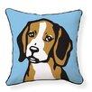 Naked Decor Beagle Cotton Throw Pillow