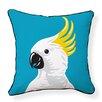 Naked Decor Cockatoo Cotton Throw Pillow