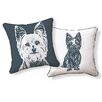 Naked Decor Yorkshire Terrier Cotton Throw Pillow