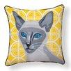 Naked Decor Siamese Cat Indoor/Outdoor Throw Pillow