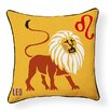 Naked Decor Leo Indoor/Outdoor Throw Pillow