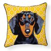 Naked Decor Pooch Décor Dachshund Indoor/Outdoor Throw Pillow