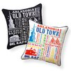 Naked Decor Alexandria, Virginia City Indoor/Outdoor Throw Pillow