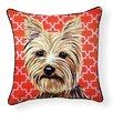 Naked Decor Pooch Décor Yorkshire Terrier Indoor/Outdoor Throw Pillow