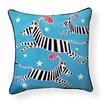 Naked Decor Circus Zebra Indoor/Outdoor Throw Pillow