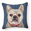 Naked Decor Pooch Décor French Bulldog Indoor/Outdoor Throw Pillow