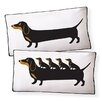 Naked Decor Dachshund Puppies Cotton Boudoir/Breakfast Pillow