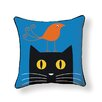 Naked Decor Bird on Cat Throw Pillow
