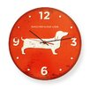 "Naked Decor Dachshund 12"" USA Round Wall Clock"