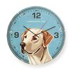 "Naked Decor 12"" Labrador USA Round Wall Clock"